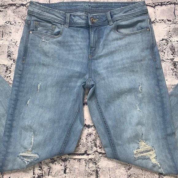Zara Basic skinny ankle jeans